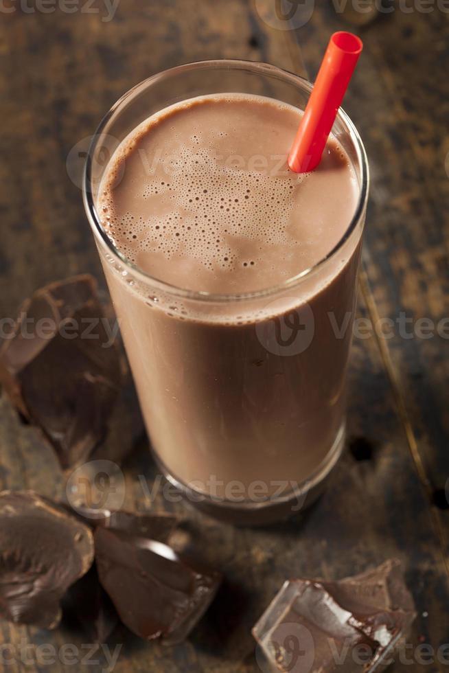 verfrissende heerlijke chocolademelk foto