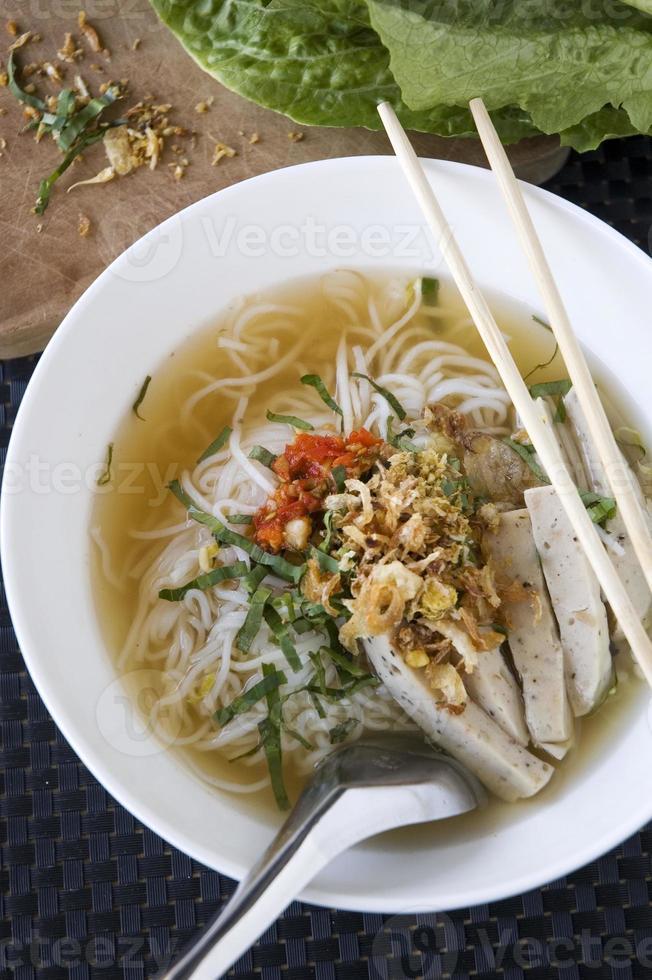 pho noodle voor de lunch foto