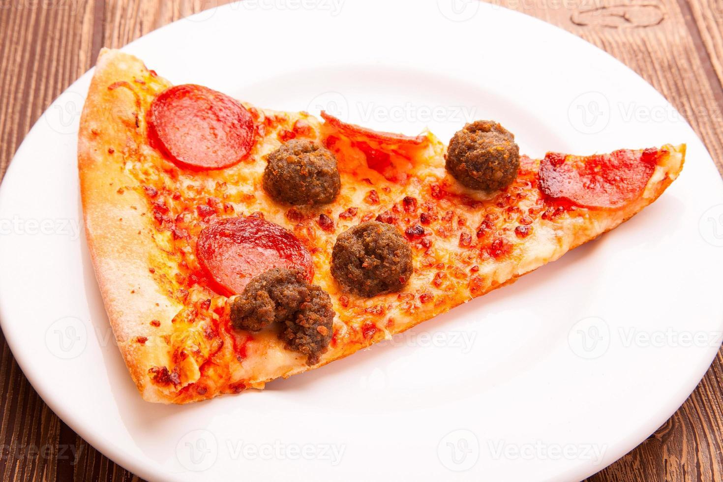 heerlijke verse pizza foto