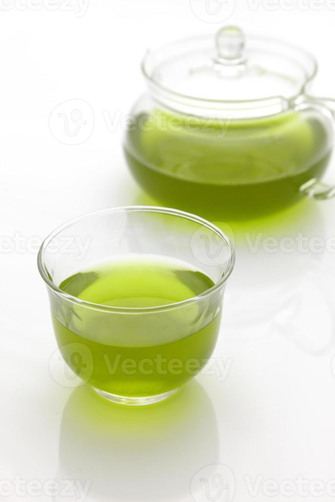 koude jananese groene thee foto