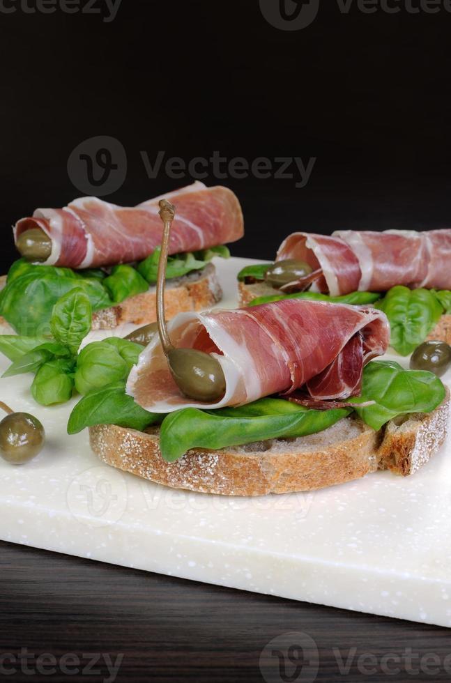 sandwich met jamon foto