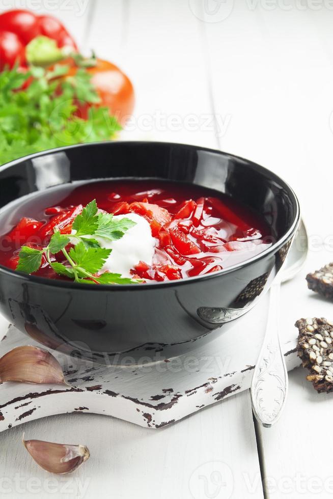 borsh. Russisch traditioneel gerecht foto