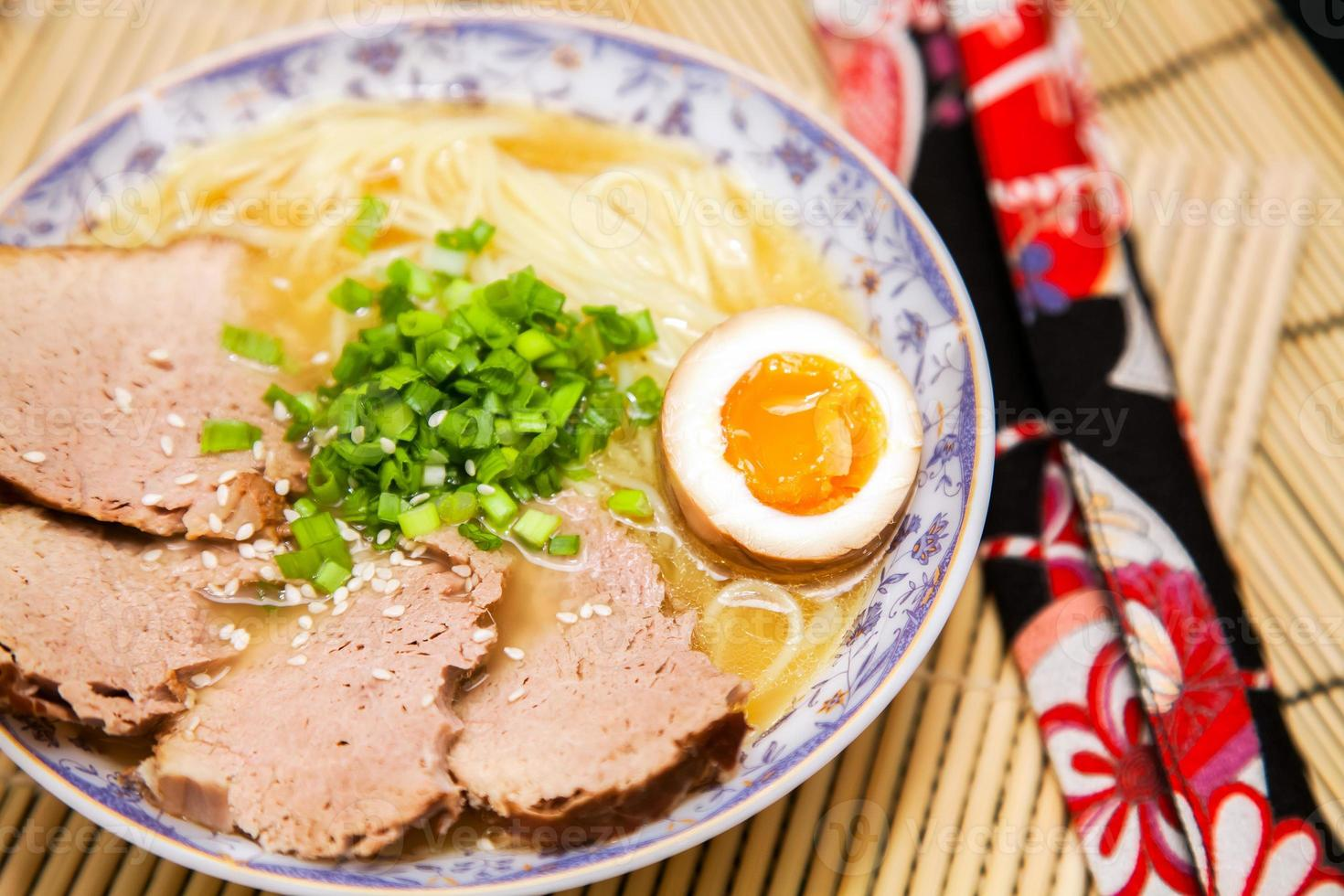 Japanse ramen noodles foto