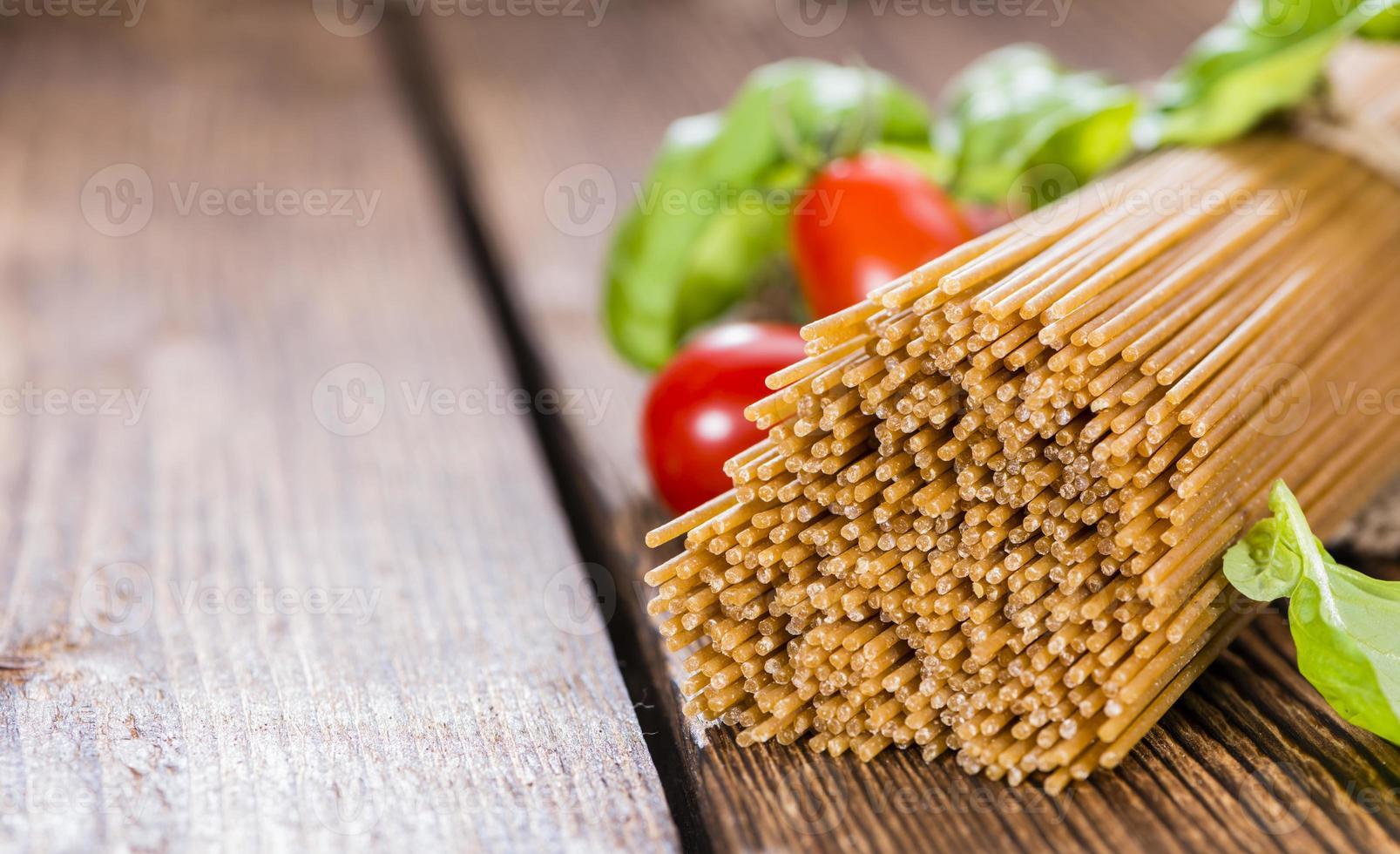 volkoren spaghetti foto