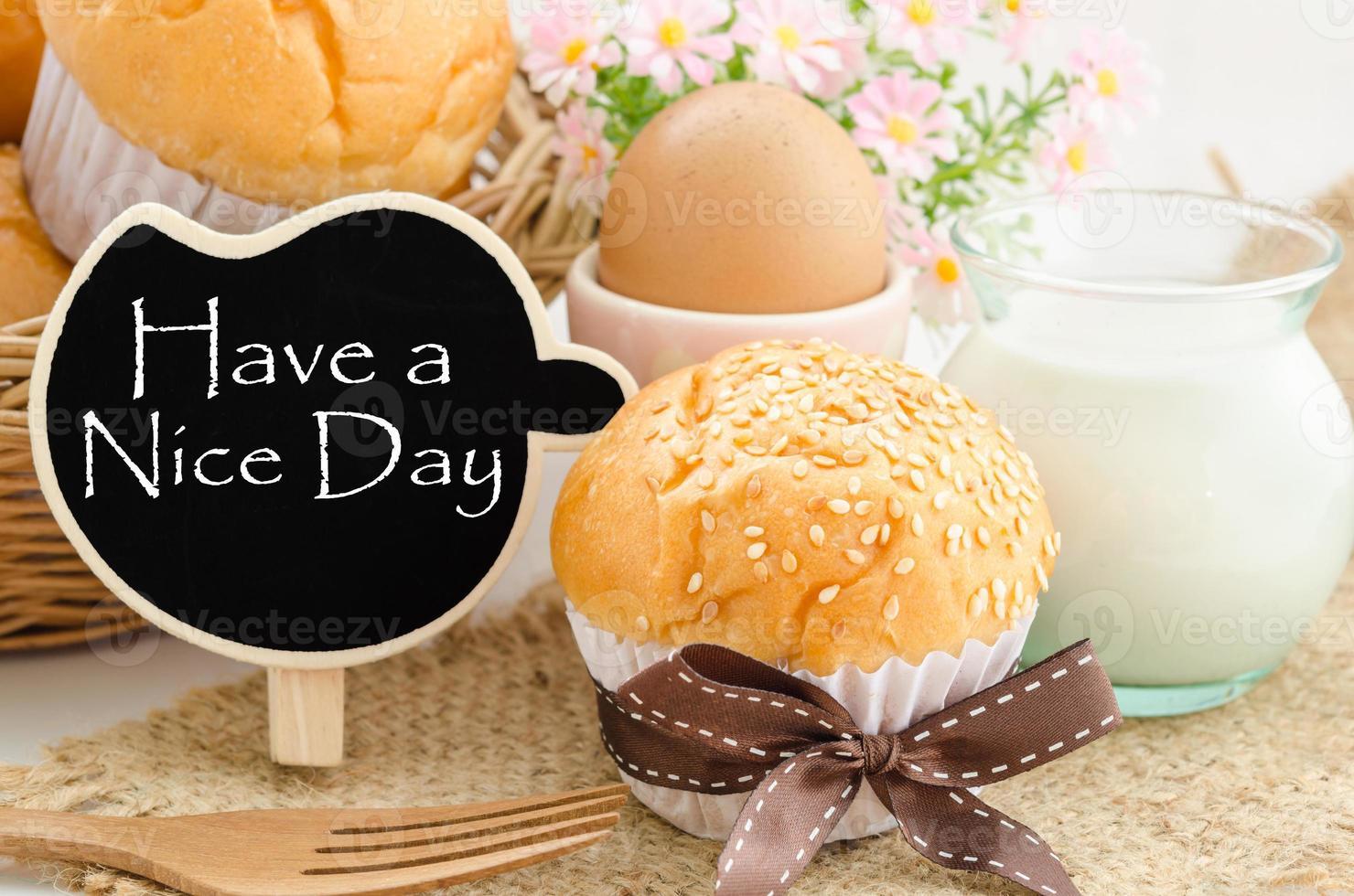 fijne dag en ontbijt. foto