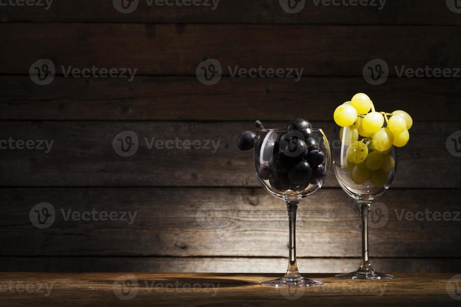 glas en druif foto