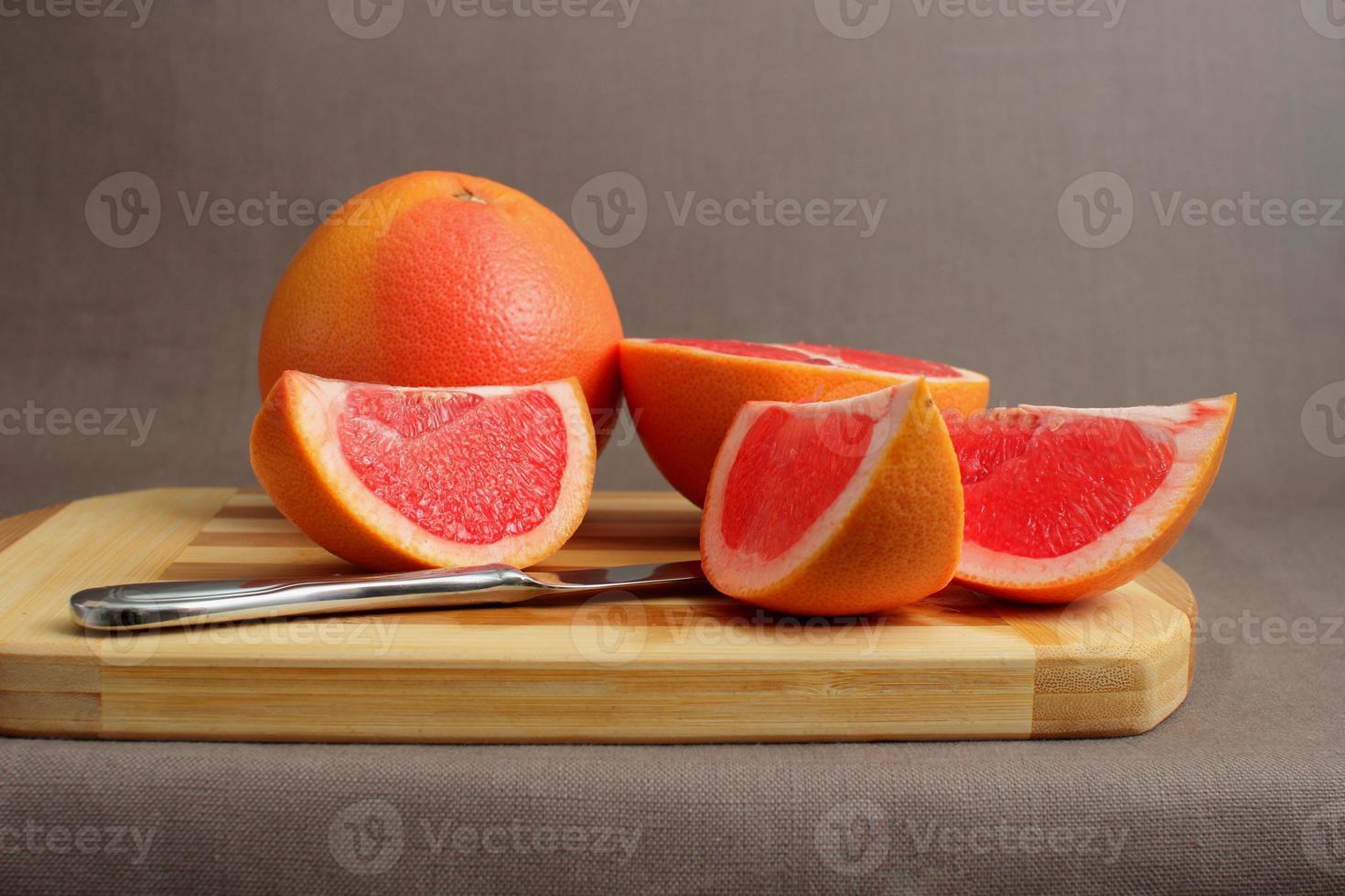 grapefruit en plakjes foto
