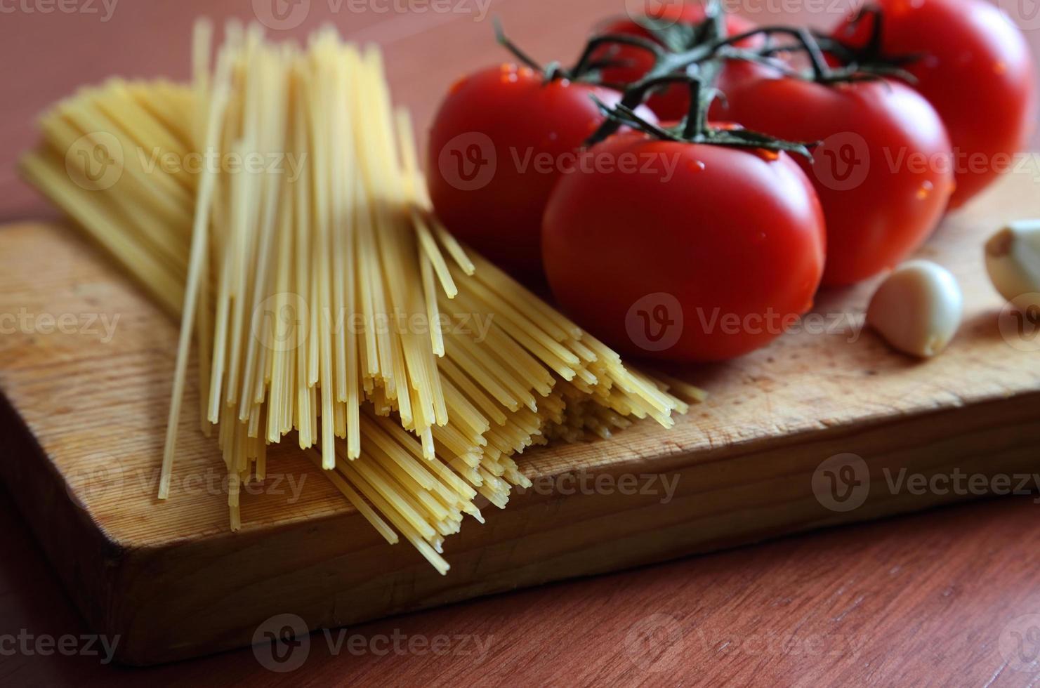 eenvoudige spaghetti foto