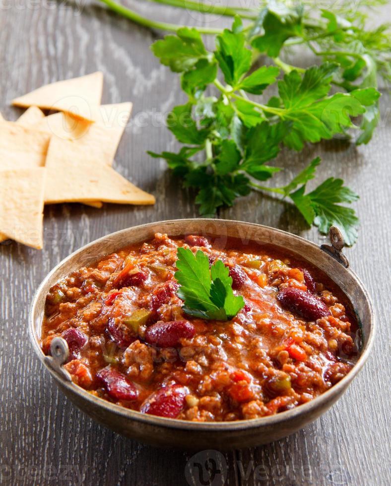 Mexicaanse chili con carne foto