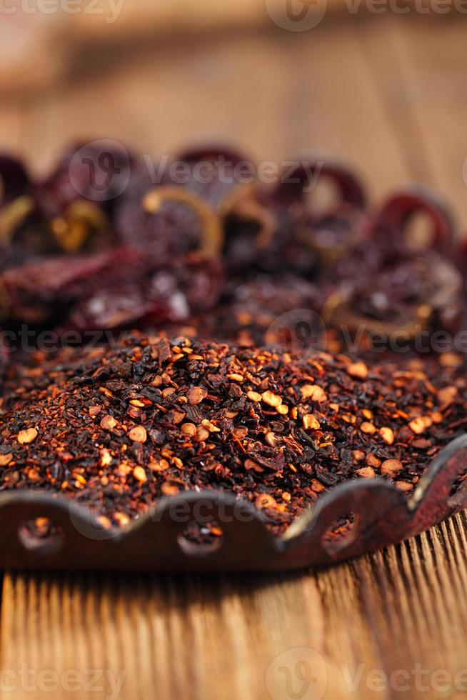 chipotle - jalapeno gerookte chili foto
