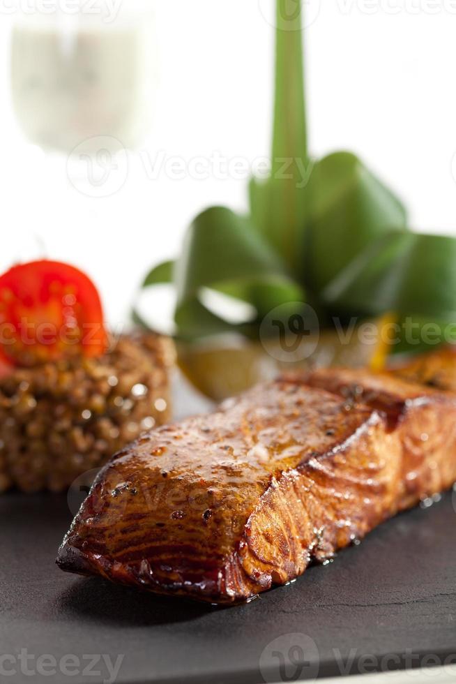 Zalm steak foto