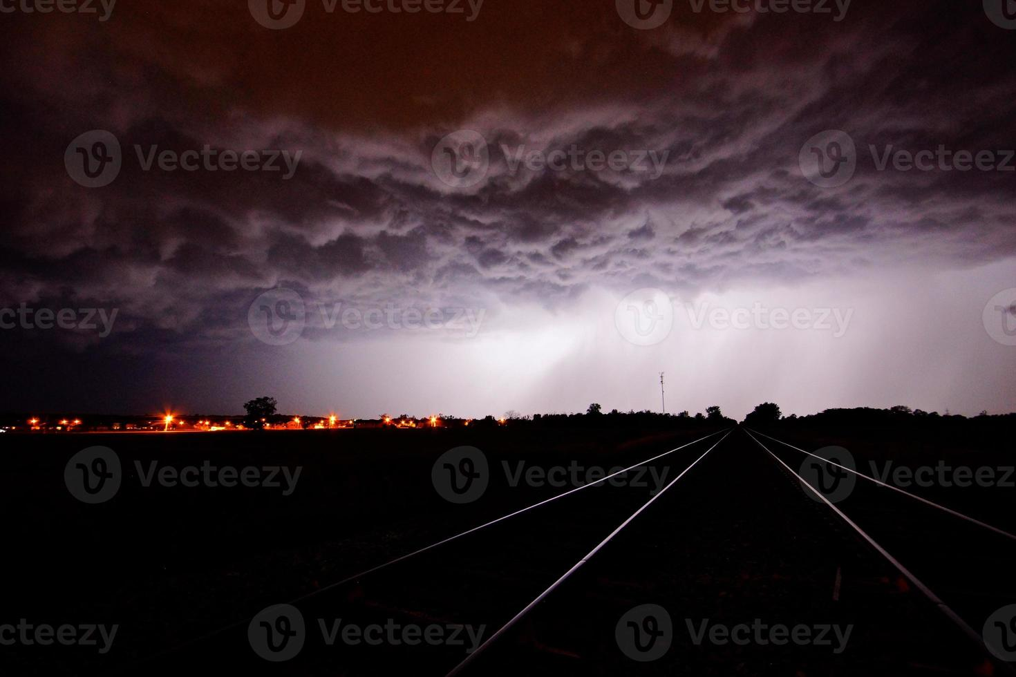 spoorweg storm foto
