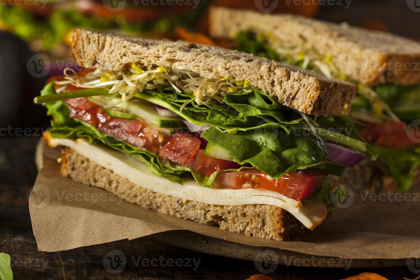 gezond vegetarisch vegetarisch broodje foto