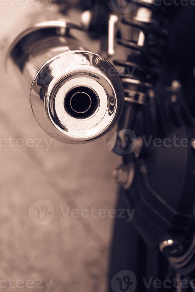 motorfiets uitlaat foto