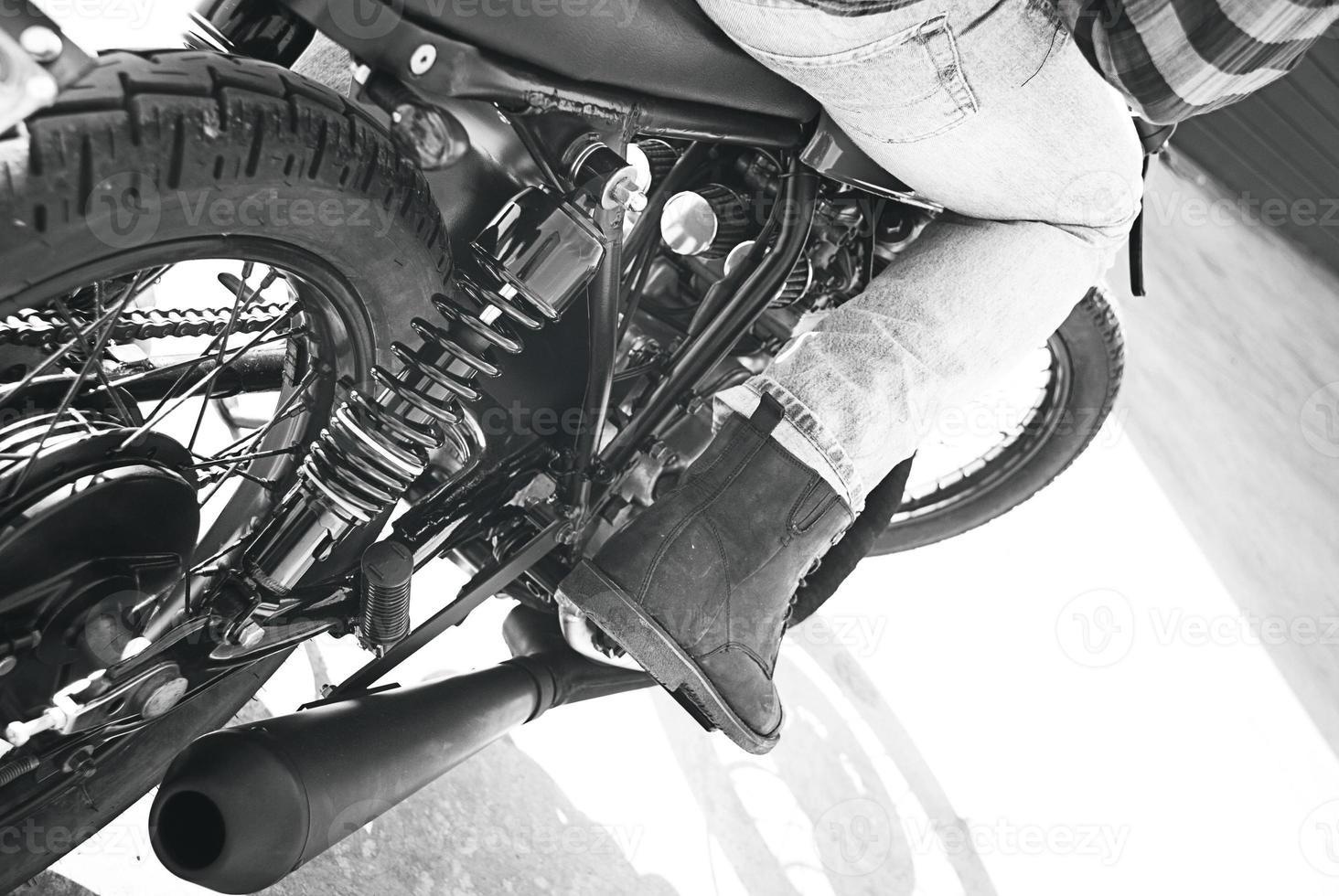 vintage motorfiets. foto