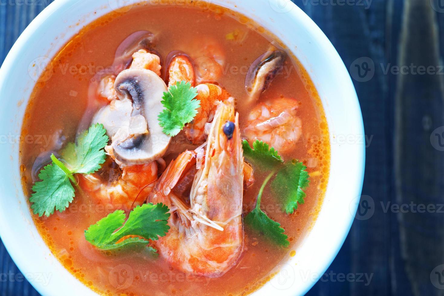 tom yam soep foto