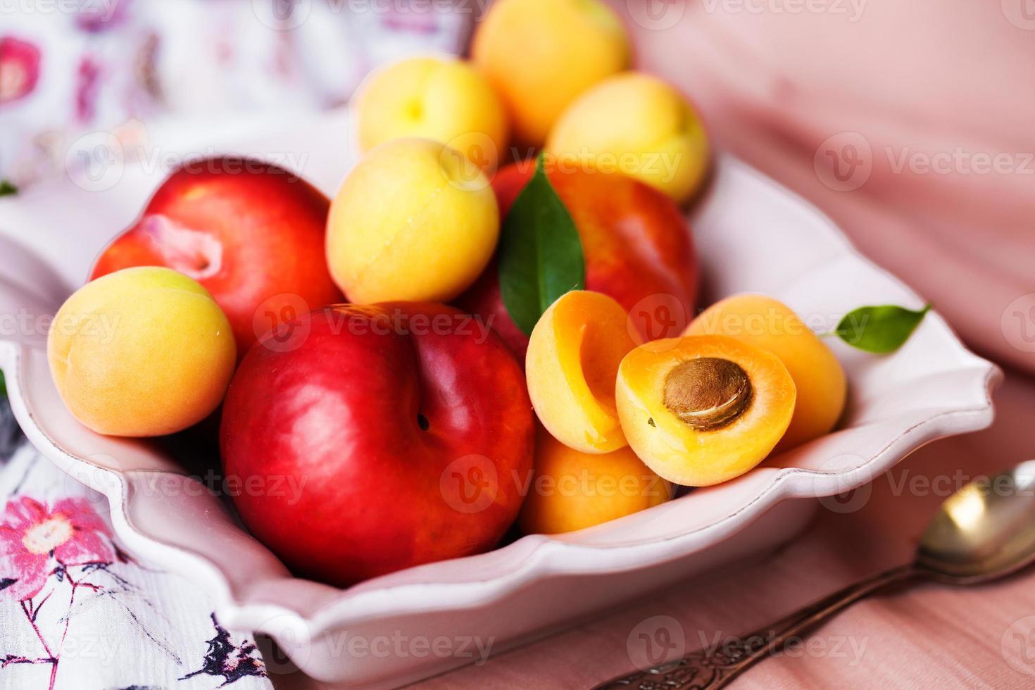 plaat van fruit foto
