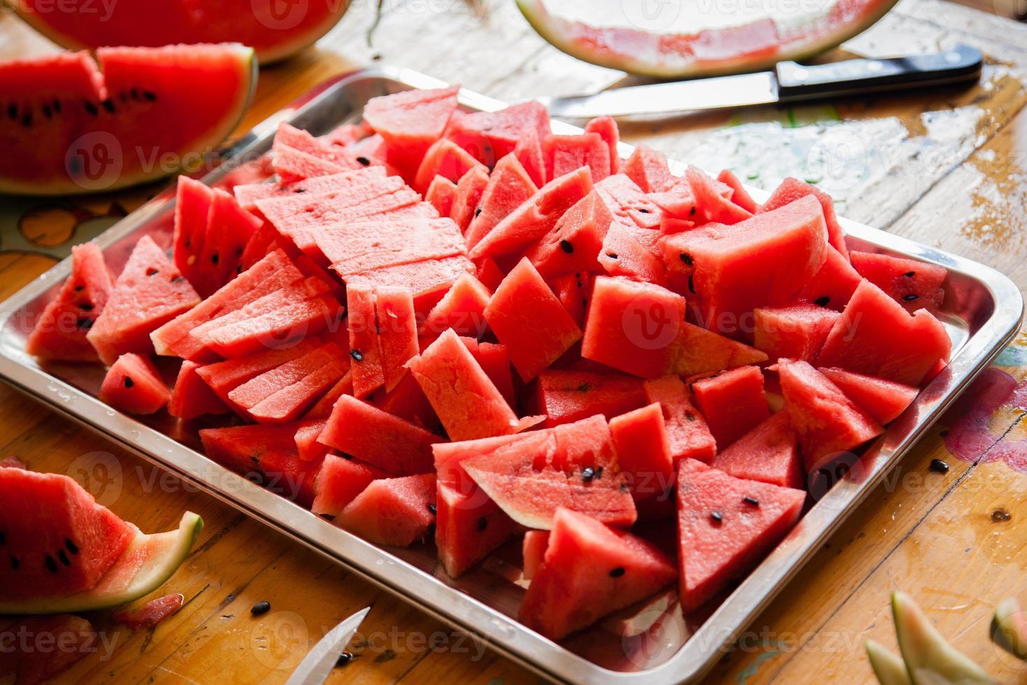 gesneden watermeloen foto