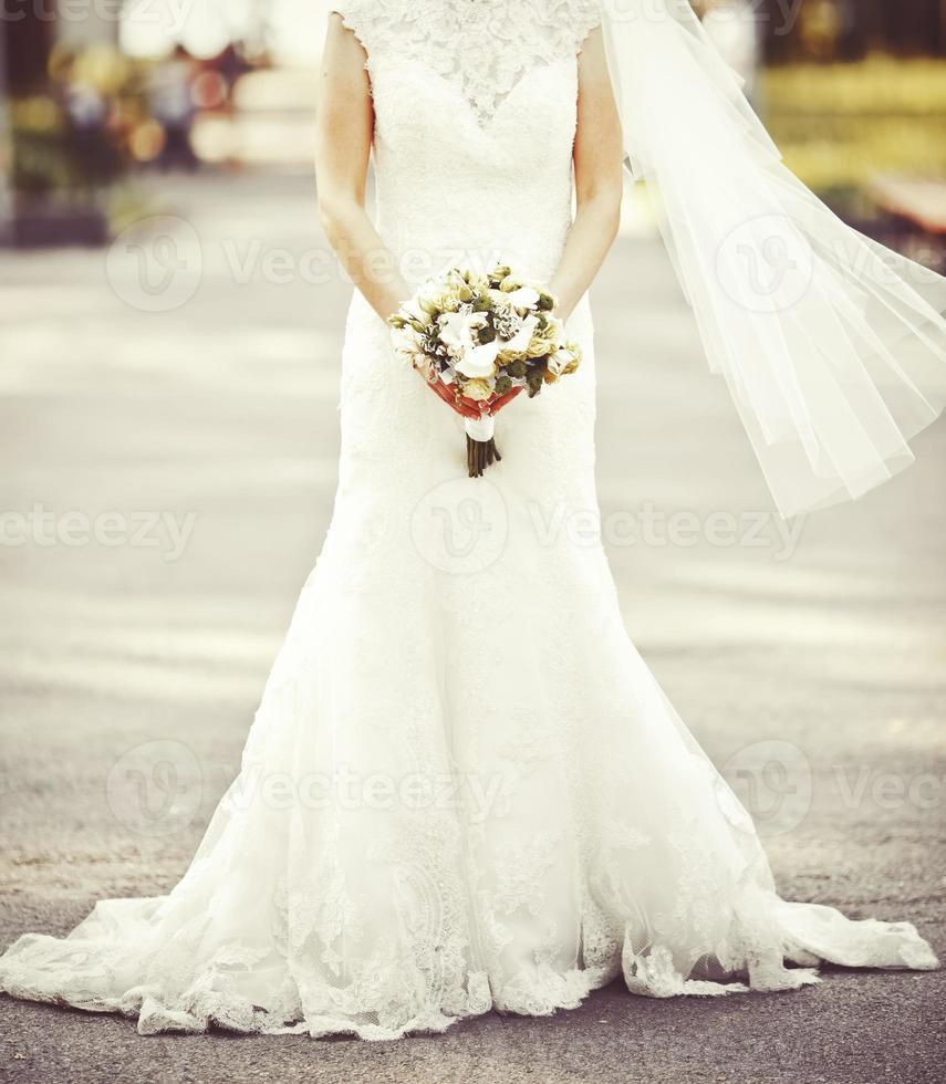 Kaukasische bruid foto