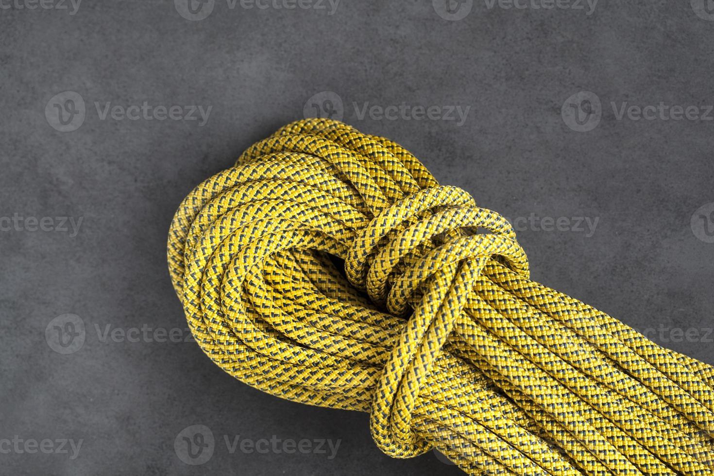 rotsklimmen dynamisch touw foto