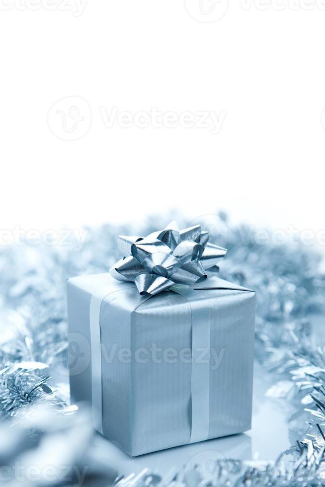 zilveren geschenkdoos foto