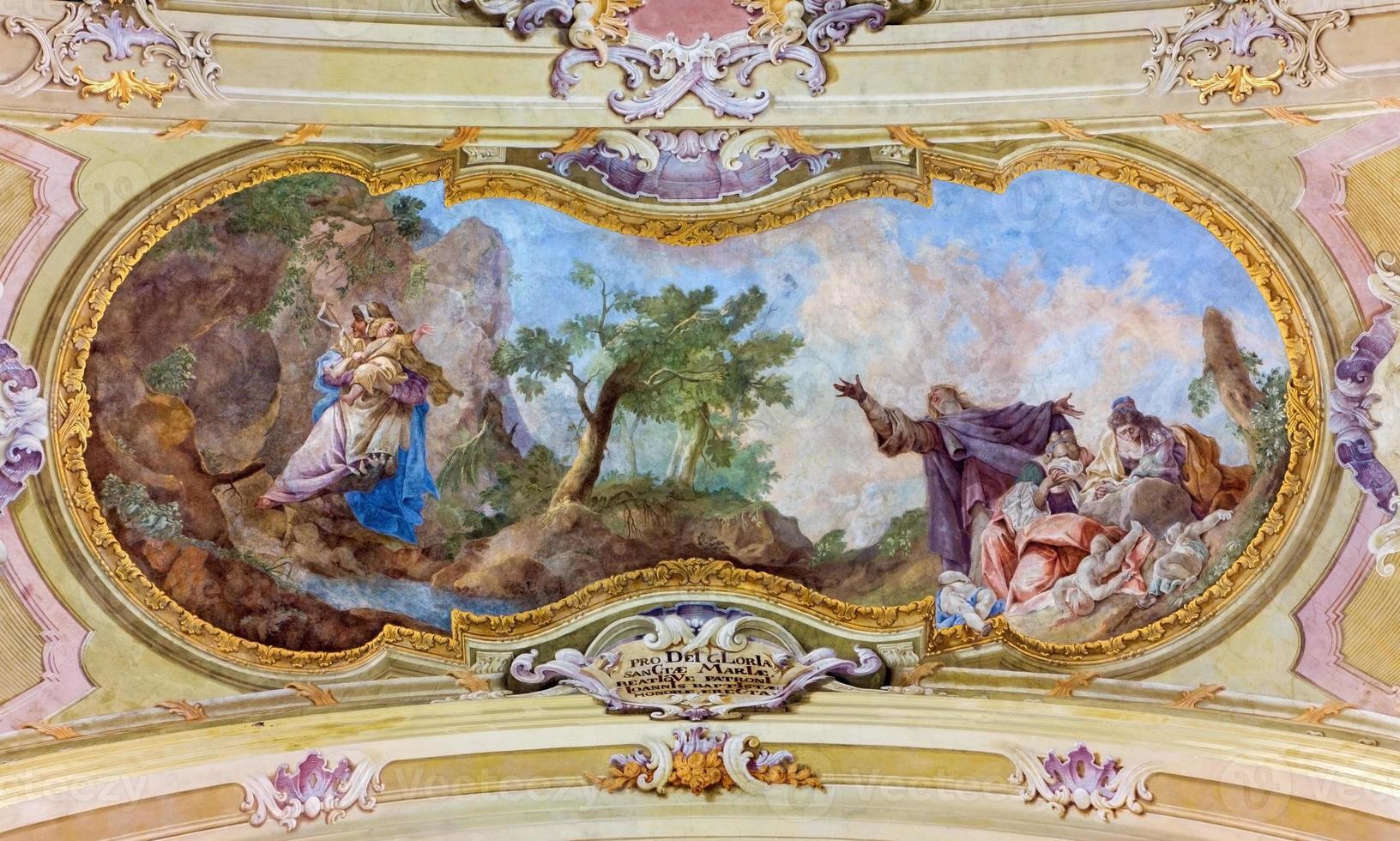 jasov - fresco op barok plafond van klooster foto
