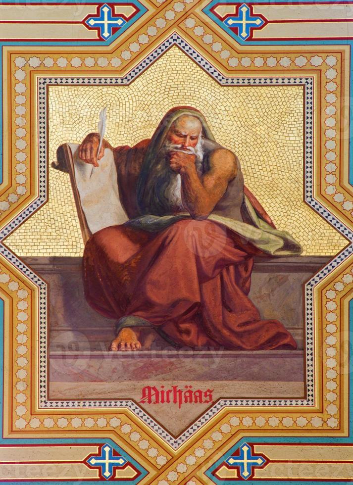 Wenen - fresco van de profeet Micha foto