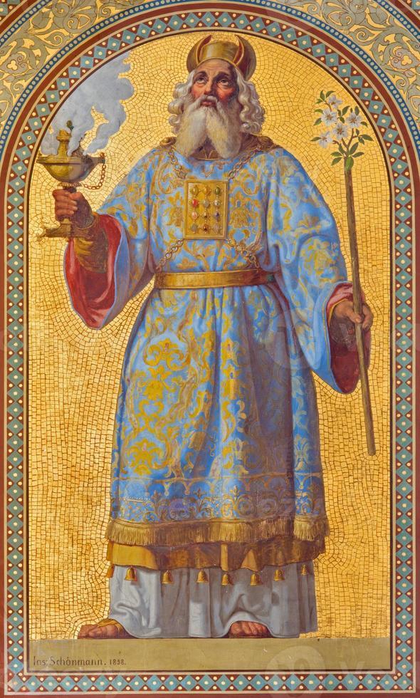wenen - fresco van hogepriester aron foto