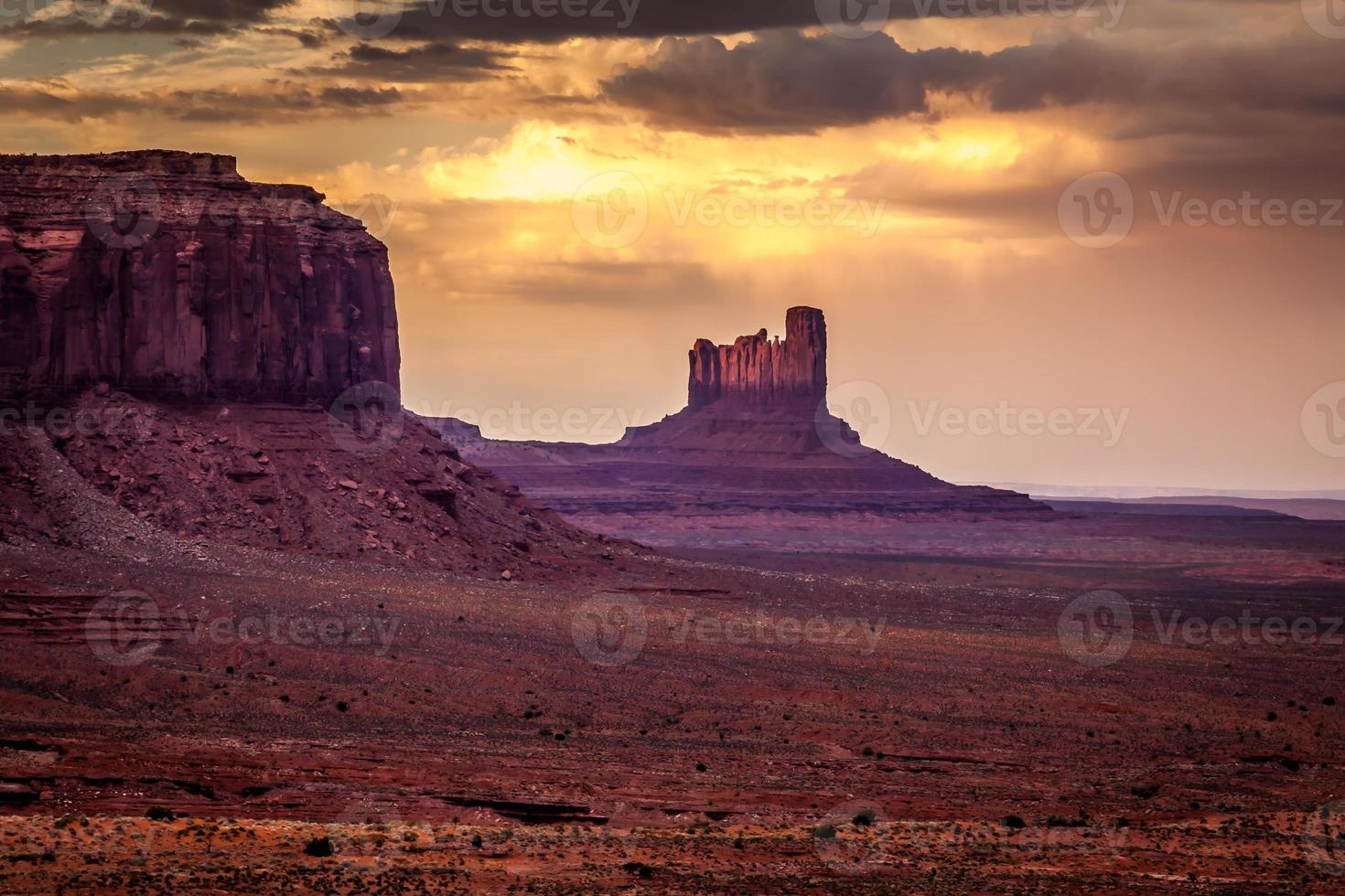 zonsondergang over de mesa's foto