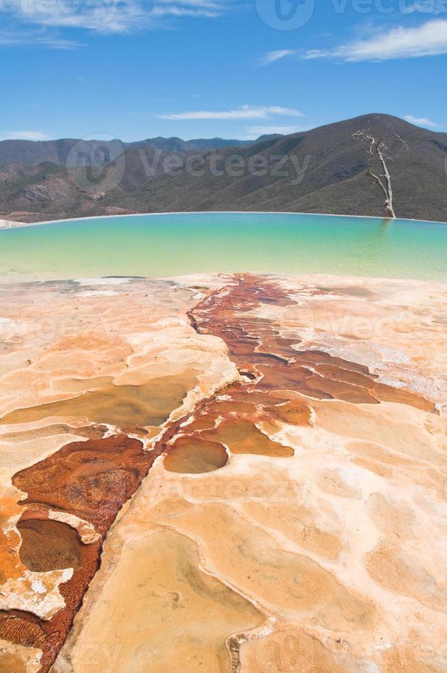 hierve el agua, thermale bron in oaxaca (mexico) foto