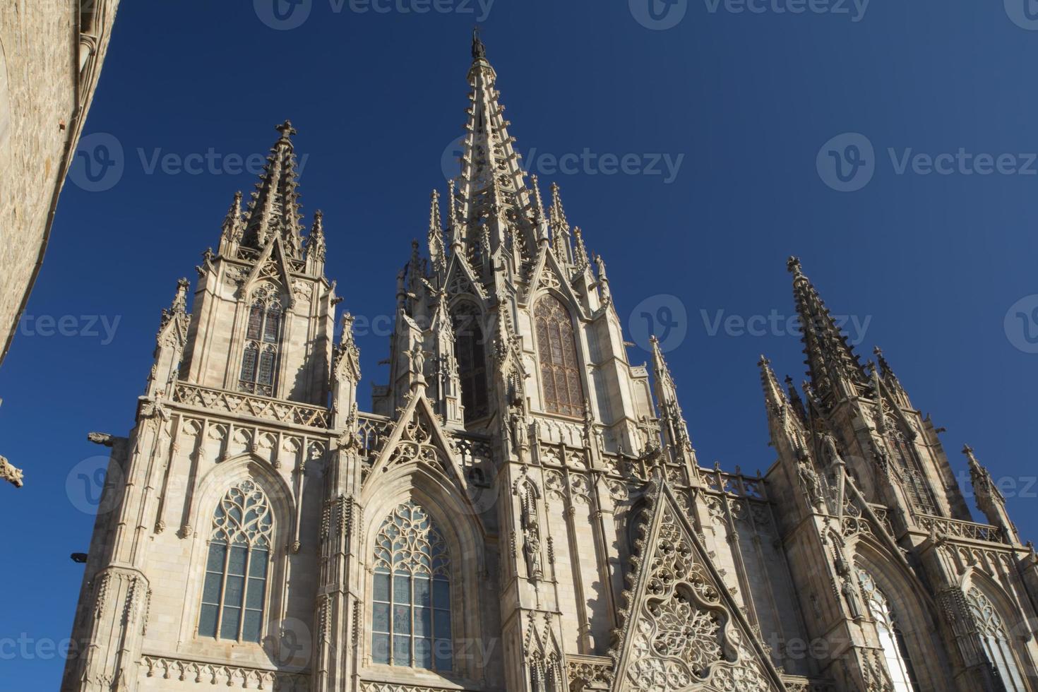 kathedraal de barcelona in barcelona foto