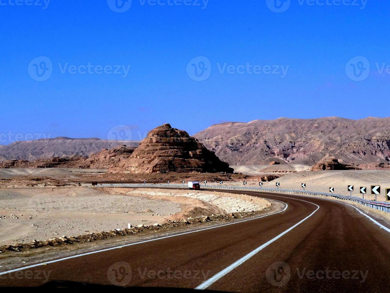 roadtrip in de berg Sinaï foto
