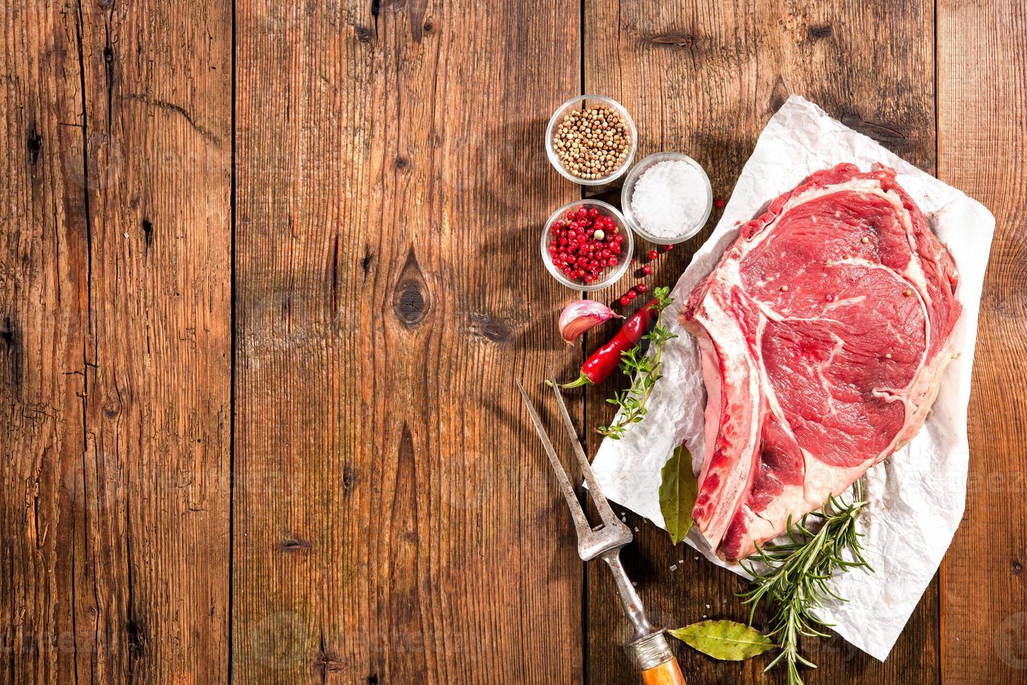 rib eye steak foto