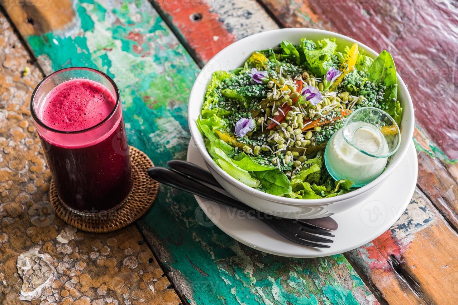 regenboog salade foto