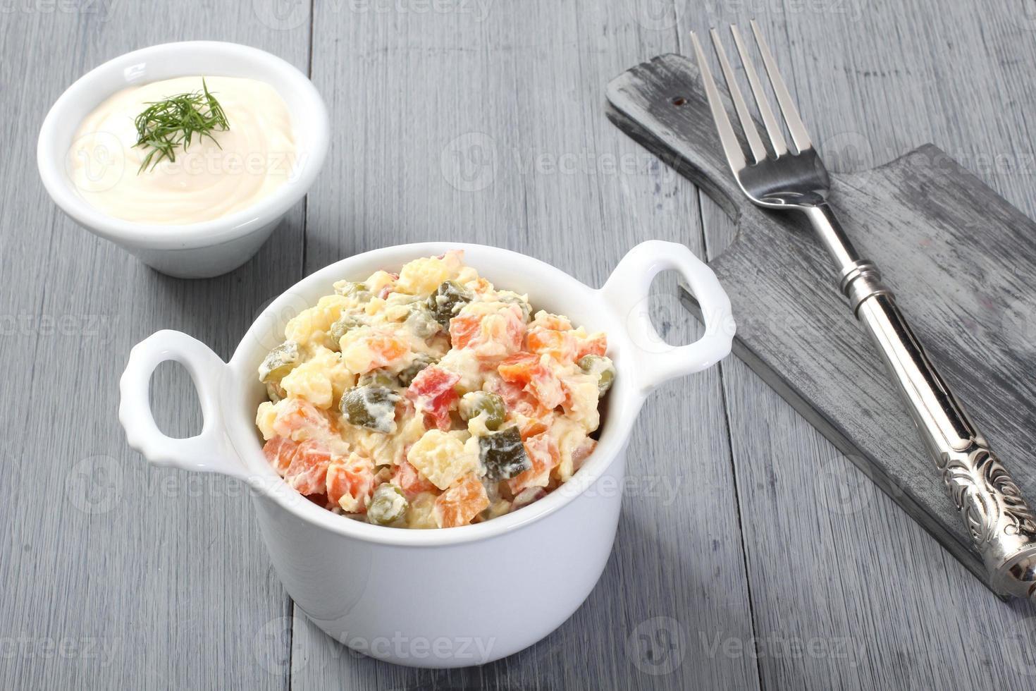 Russische groentensalade foto