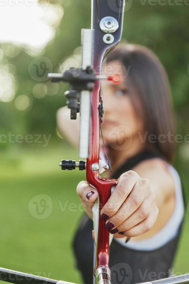 vrouwelijke boogschutter foto