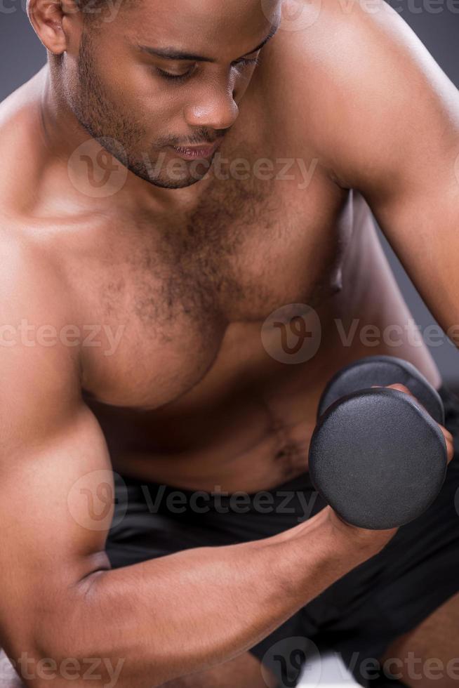 gewicht oefeningen. foto