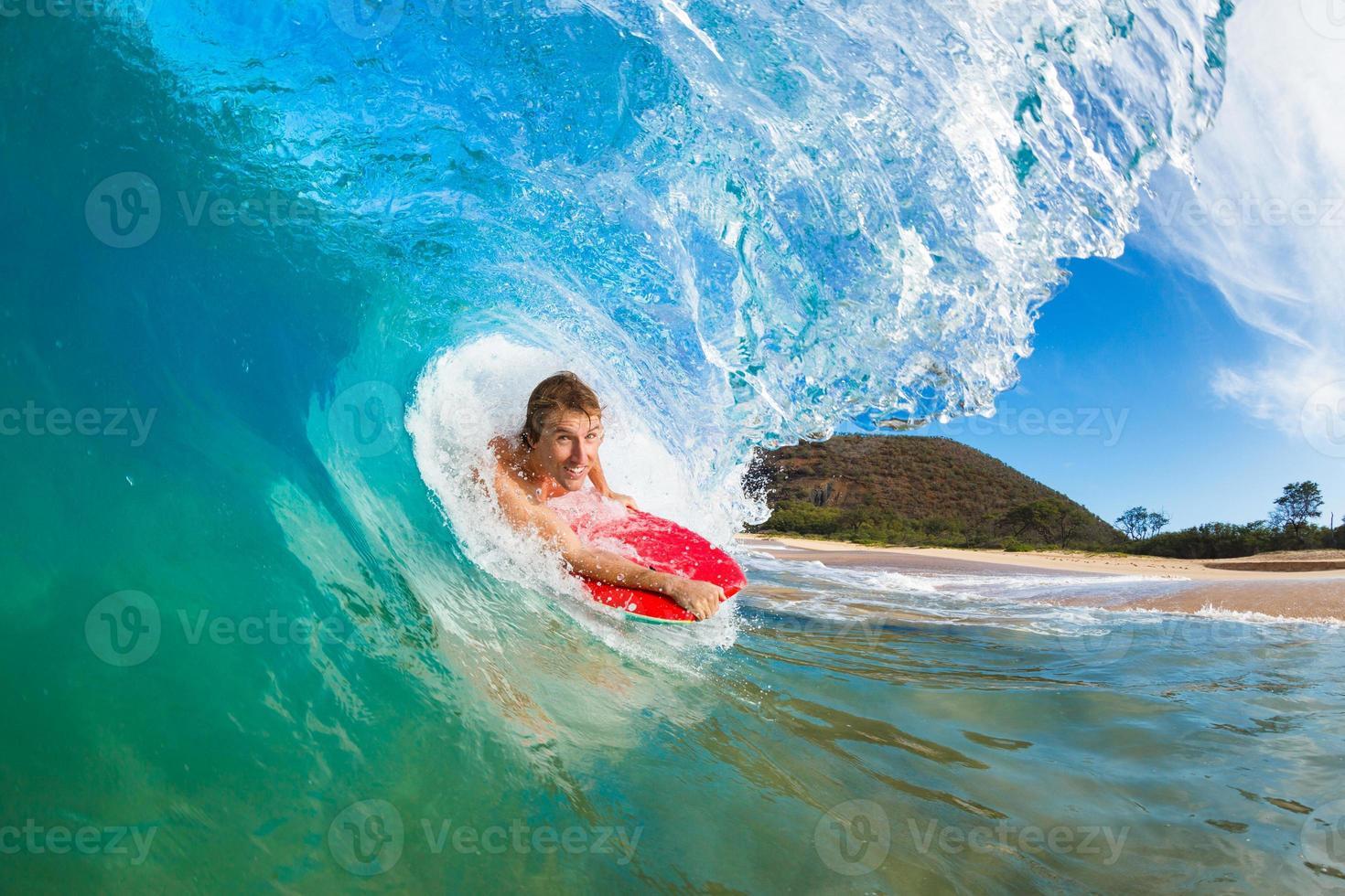 surfen op de branding foto