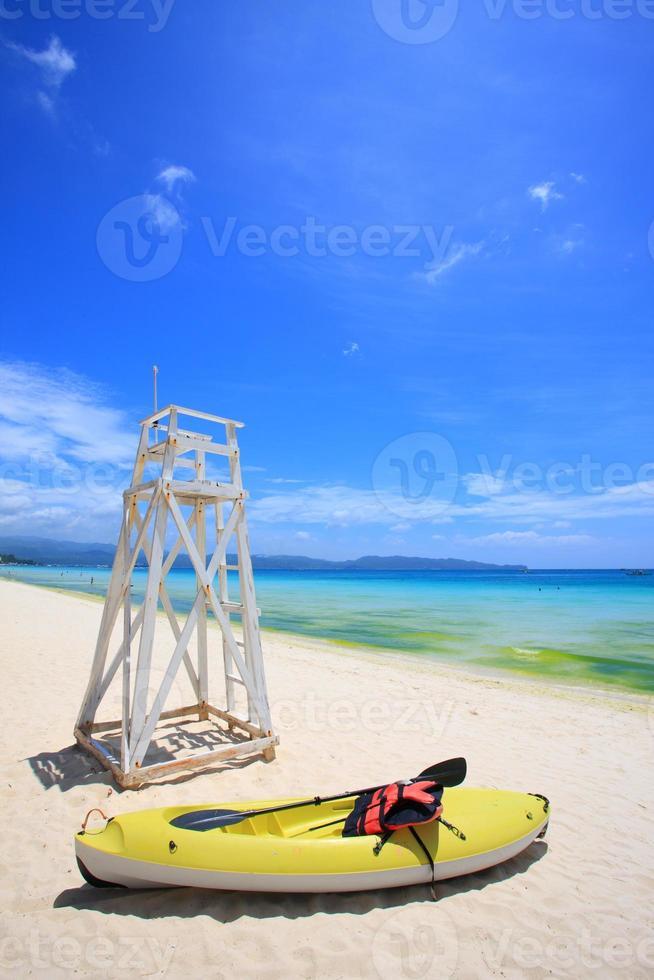 kajak op het strand foto