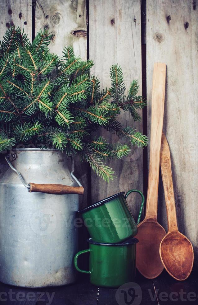 rustieke winterdecoratie foto