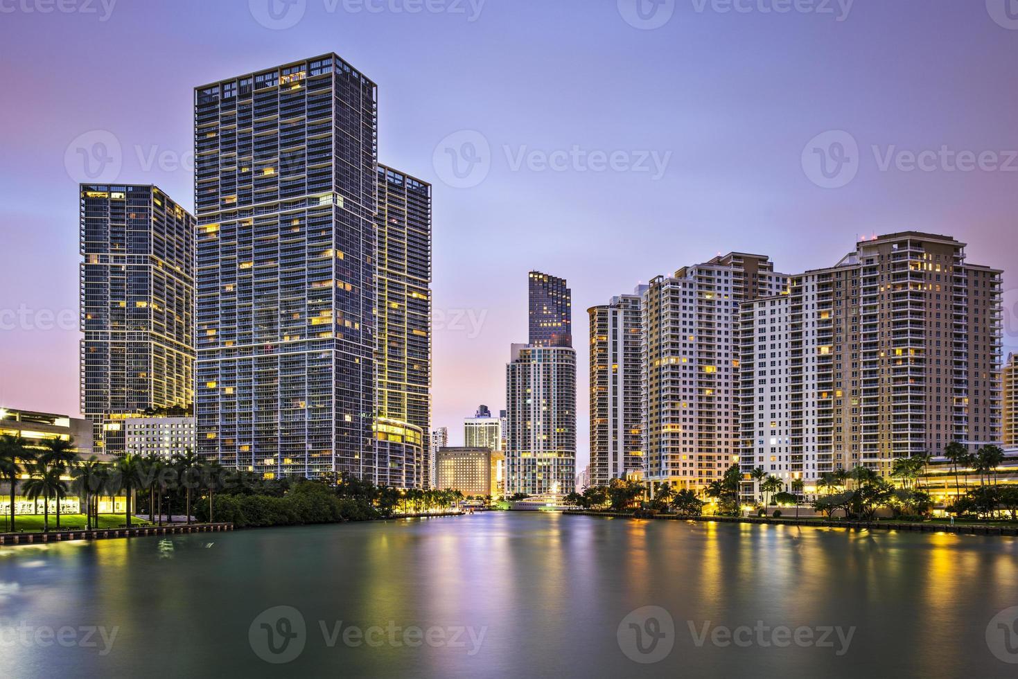 skyline van Miami foto