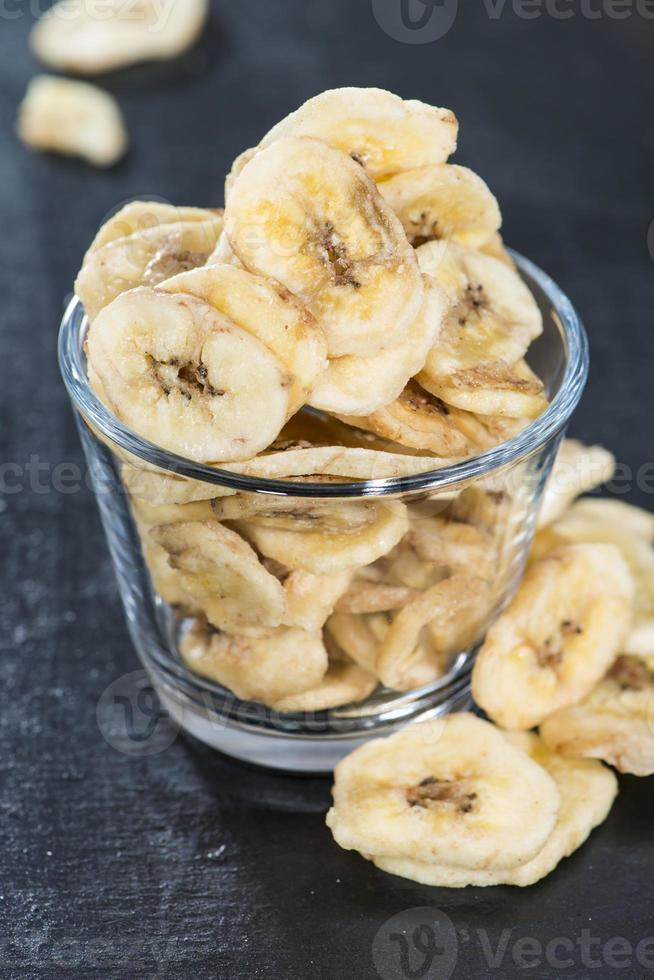 bananenchips (close-up shot) foto