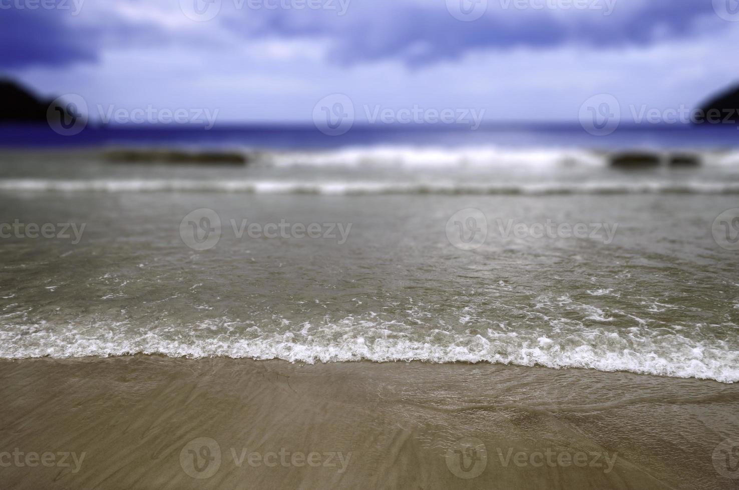 maracas strand in trinidad en tobago selectieve aandacht foto