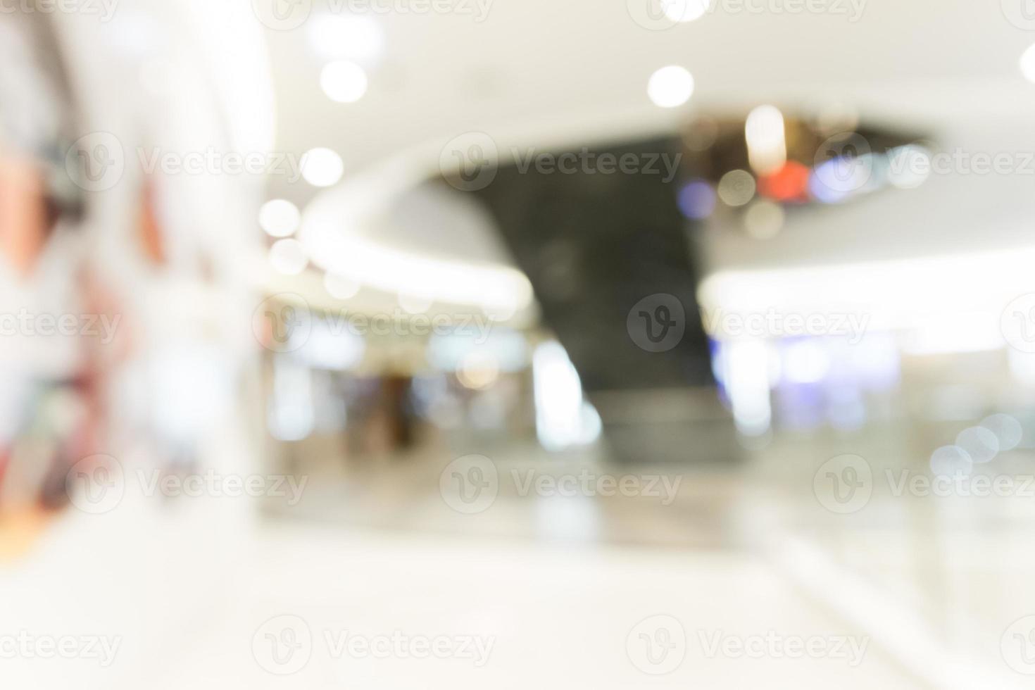 abstract warenhuis met bokeh achtergrond wazig foto