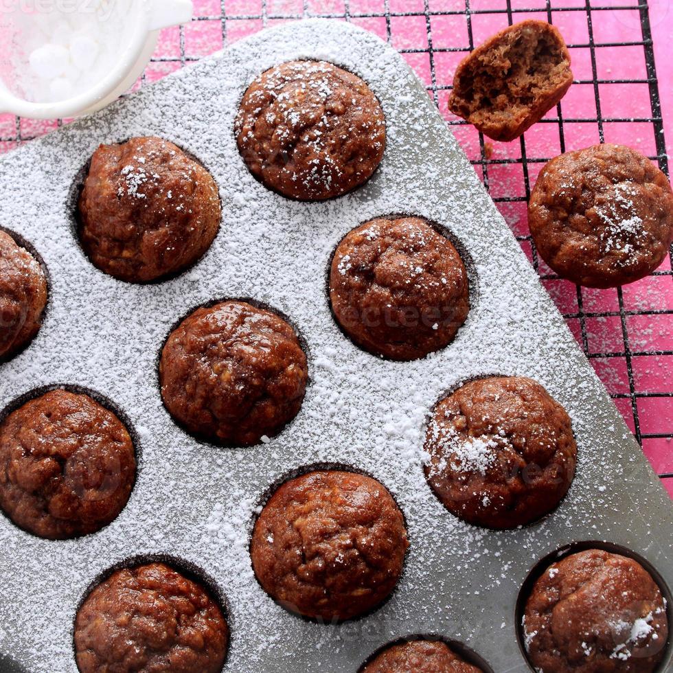 choc banaan mini muffins foto