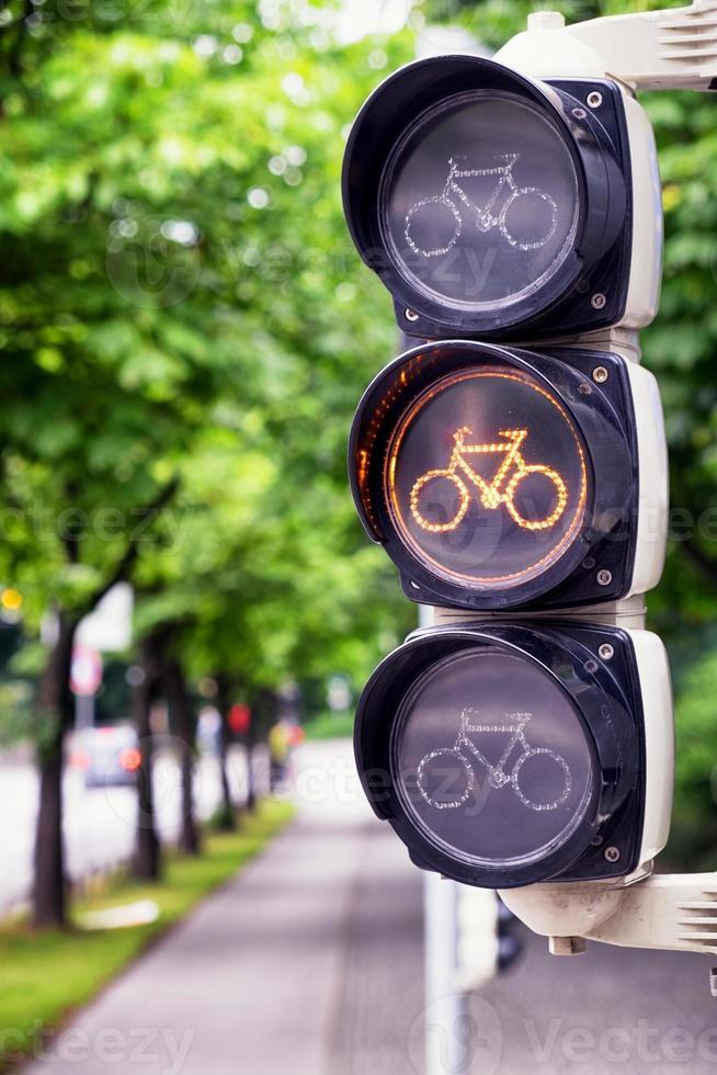 verkeerslicht voor fietsen foto