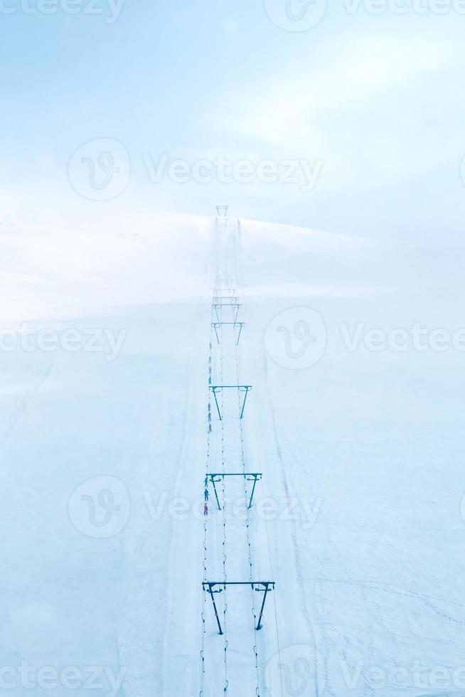 stoeltjesliften in alpen foto