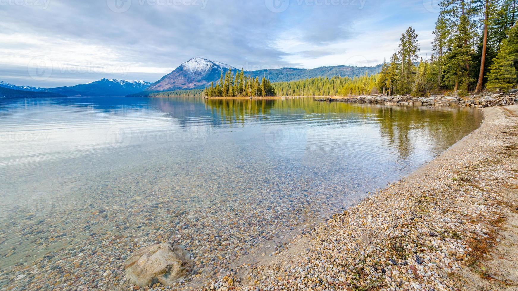 Lake Wenatchee in de winter foto