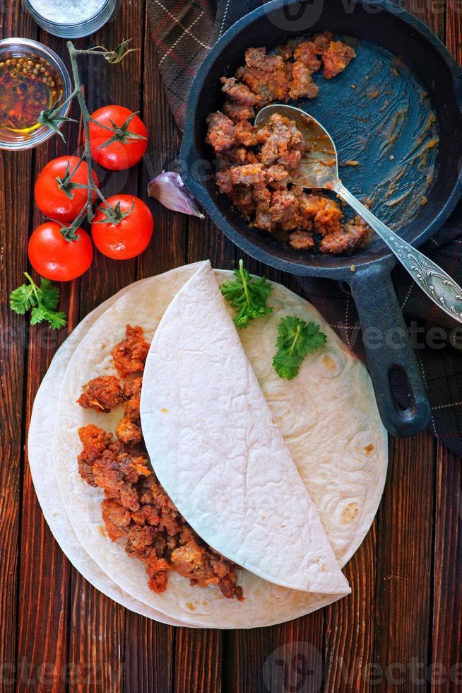 ingrediënten voor taco foto