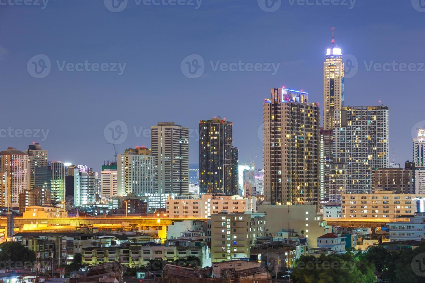stadsgezicht van bangkok foto